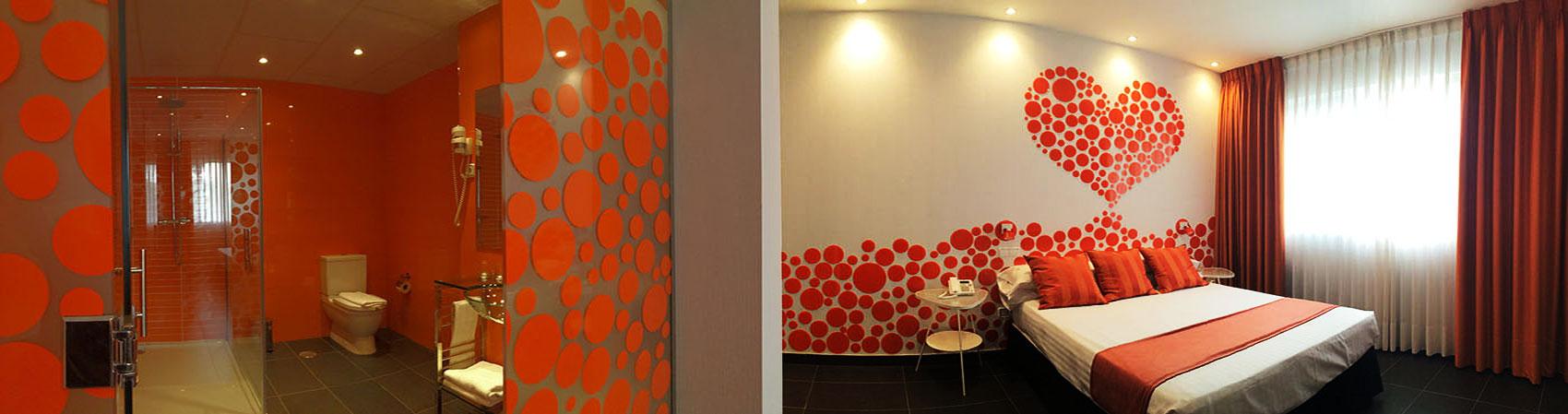 Habitación del Hotel Indiana en Pinto
