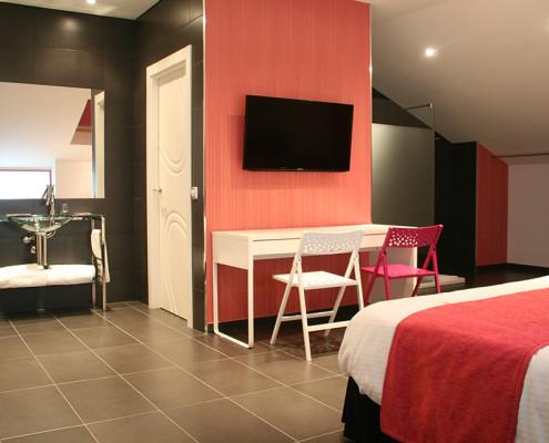 habitación para cinco personas