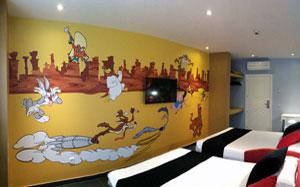 habitación parque Warner Bros Madrid