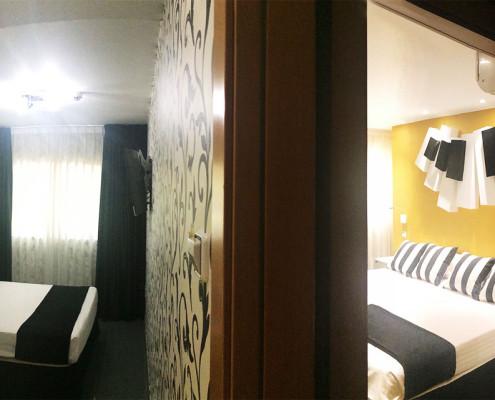 habitaciones comunicadas para 4 o 5 personas