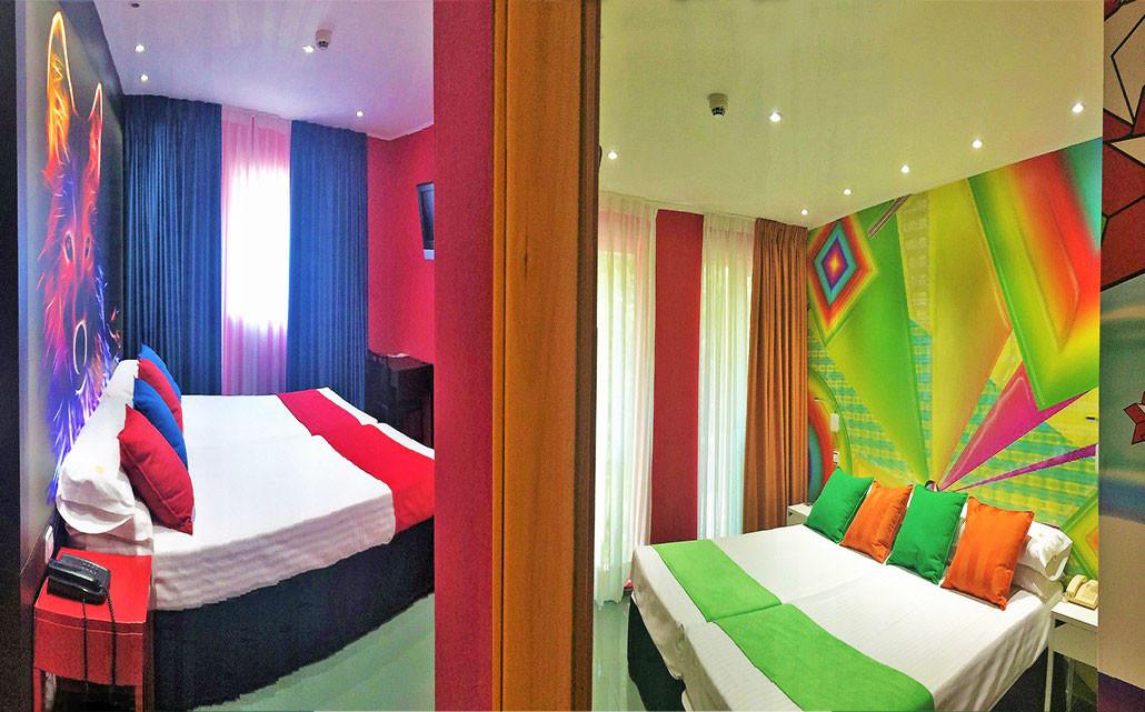 Habitaciones comunicadas 4 personas hi hotel indiana for Habitaciones de hotel para 5 personas