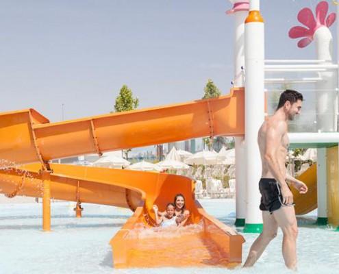 parque warner beach familia