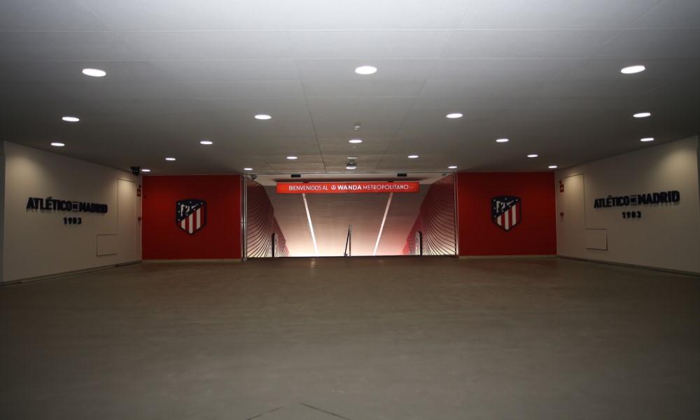 Tunel vestuarios Wanda Metropolitano