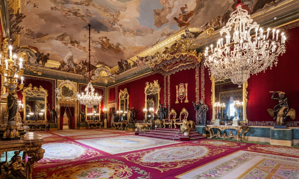salón del trono palacio real madrid